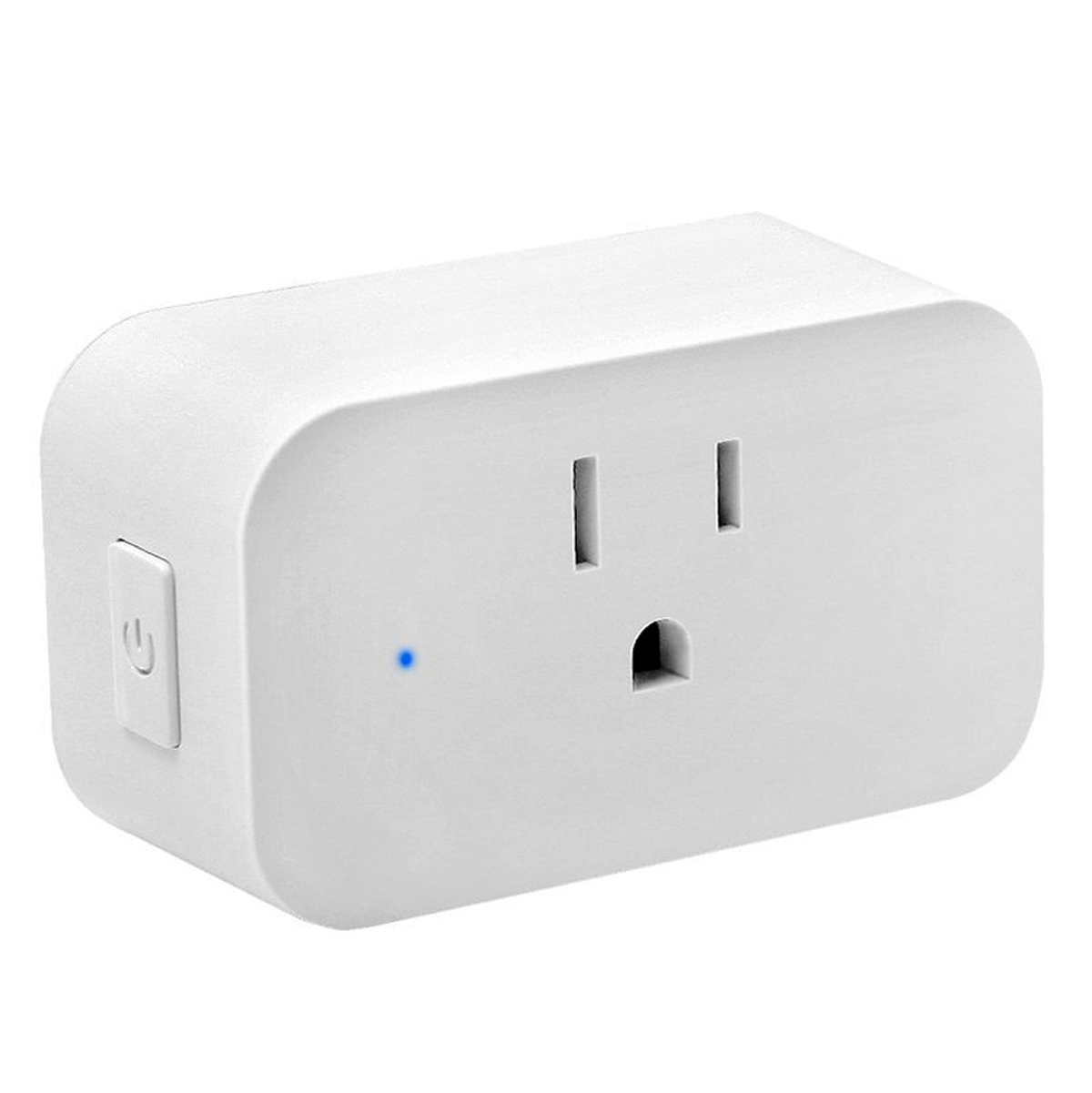 Wifi Outlet - Atuten Wireless Smart Plug with Timing Function, No Hub Required, Mini Smart Socket Compatible with Alexa and Google Home - Control Your Devices from Anywhere, 15A, White (1Pack)