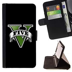 For Samsung Galaxy S5 Mini (Not S5), SM-G800 Case , Cinco juego- la tarjeta de Crédito Slots PU Funda de cuero Monedero caso cubierta de piel