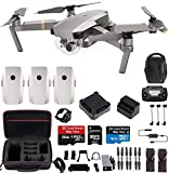 DJI Mavic Pro Platinum Fly More Combo Travel Bundle: Extra 2 Batteries, Professional Case and More