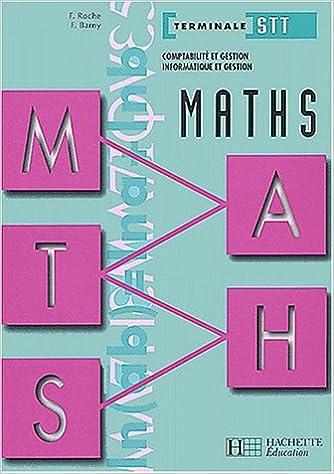 Livres Maths Comptabilité et gestion, informatique et gestion Terminale STT pdf, epub ebook