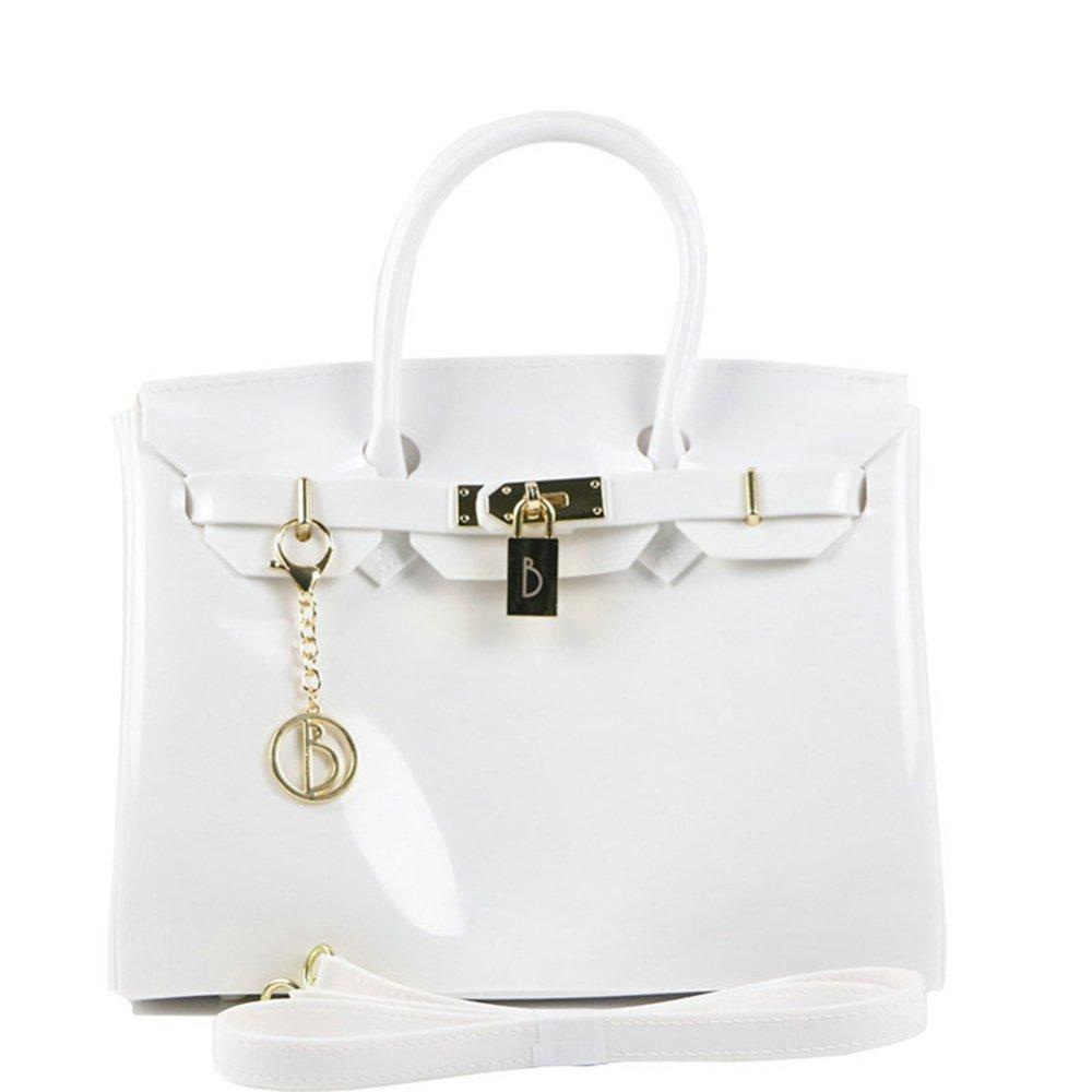 Patent Leder Top Griff Griff Griff Schulranzen Handtasche Abnehmbare Schultergurt Damen Anhänger Umhängetasche 3461c6