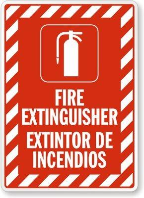 Amazon.com: Extintor extintor de incendios (con gráfico y ...