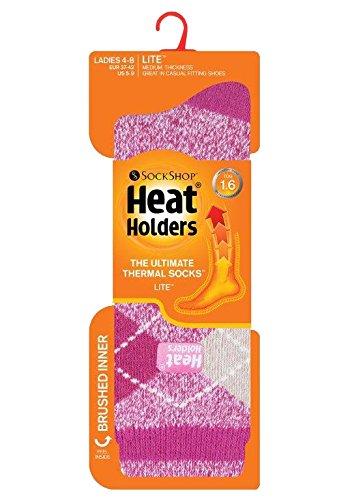 HEAT HOLDERS Lite - Mujer Calientes Térmicos Calcetines Suave Cómodo Divertidos Finos Colores Invierno para Frío 37-42 eu (Abbey): Amazon.es: Ropa y ...