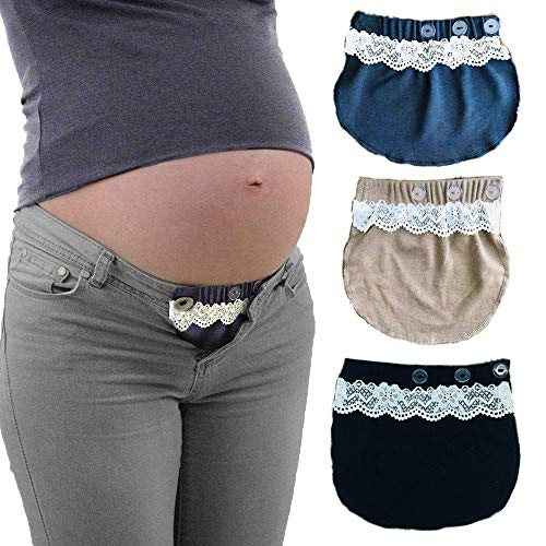 Maternity Belly Band   Pregnancy Belt, Waistband Extender Mothers Maternity Wear/save money/flexible and versatile