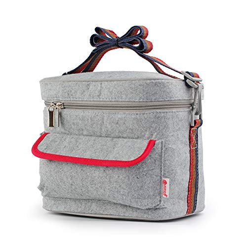 WORTHBUY Lunch Bag for Women Kids Lunch Box Insulated Lunch Tote Bag with Adjustable Shoulder Strap Water-resistant Leak Proof Work/School/Picnic ()