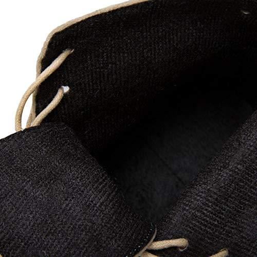 Donna Donna Corti Blocco TAOFFEN Beige Moda Moda Moda Stivali Tacco RqddaBw