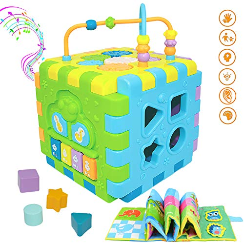 Baby Activity Cube Multi-Assembly Busy Play Center Toys 7 in 1 for Babies Play Musical Cube for Infants & Toddlers