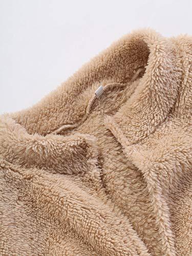 Pullover Soprabito Felpa Outwear Invernale Donna Cappotto Classico Caldo Flanella Homebaby Nero Giacca Maglione Lunghe Largo Ragazza Soffice Maglione Maniche Cardigan OTqwvB4