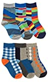 Jefferies Socks Boys Fashion Crew Socks 6 Pack (X-Small)