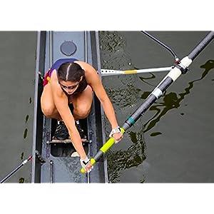 Rowing Gloves & Gym Gloves – Right Hand Smooth Palm - Best Comfortable Scull Fingerless Gloves for Men Women (Medium 20 - 21.5 cm)