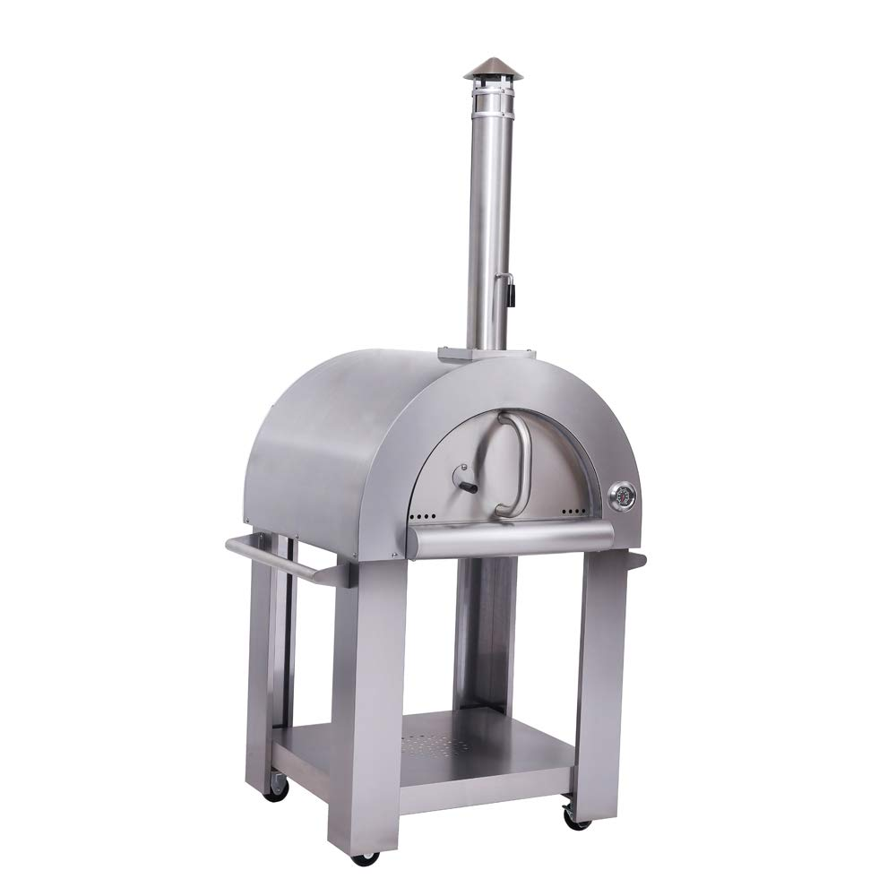 32.5'' Wood Fired Stainless Steel Artisan Pizza Oven or Grill, Outdoor or Indoor