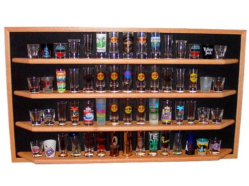60 Shot Glass/Shooter Display Case - Open Face Rack Cabin...