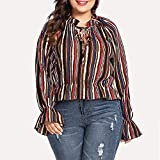 Big Sale! Women Tops Daoroka Ladies Sexy Linen Long Sleeve Plus Size Pockets Patchwork O Neck Pullover Casual Loose Blouse Fashion Cute Autumn Winter Comfort Tunic T Shirt