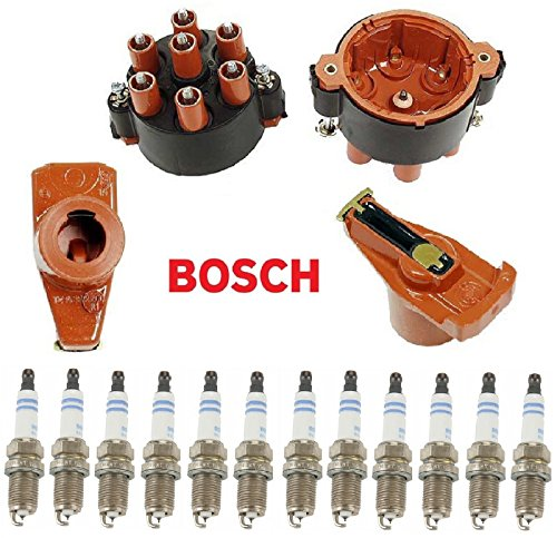(Tune Up Kit Distributor Cap Ignition Rotor Spark Plugs for Porsche 911 1989-1998)