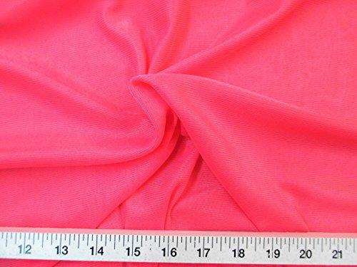 Yard Fabric Nylon 40 Denier Tricot Stretch Dark Coral 108 inch Wide TR10
