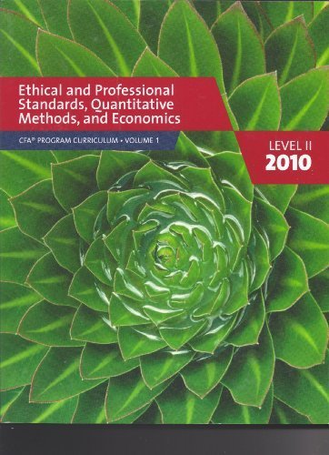CFA Program Curriculum, Level 2-2010 Edition