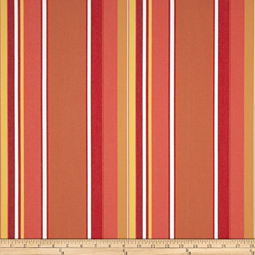 Sunbrella Stripe Dolce Mango Fabric By The Yard