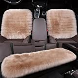 LPY Sheepskin Universal warm Car Seat Covers , purple