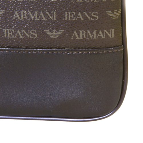 Armani Jeans mens brown 06205 J4 logo small messenger bag - Import It All 3c7259b51e429