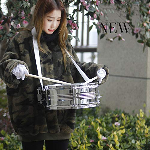MG.QING Professional Snare Drum, Student Band, Military Drum Head, with Drumsticks, Tuning Keys, Strap,Blue by MG.QING (Image #6)