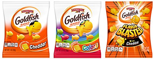 Pepperidge Farm, Goldfish, Crackers, 37.6 oz, Variety Pack, Box, Snack Packs, 40-count