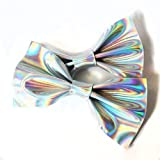 Leather Hologram Holographic Hair bow Clips Set/Hair clips/Hair Accessories/Hair bows/