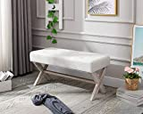 chairus Fabric Upholstered Entryway Bench