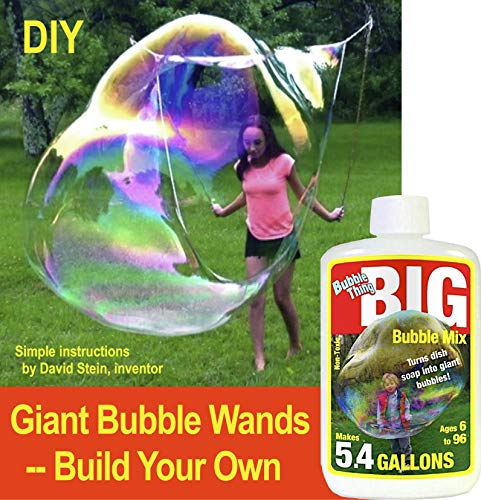 (DIY Giant Bubble Wands - Build Your Own I Includes Big Bubble Mix to Make 5.4 Gallons Best Bubbles Solution   A Challenge For Big Kids Only, Ages 6 to)