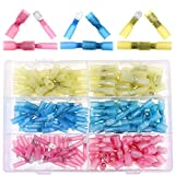 Hilitchi 160Pcs Waterproof Heat Shrink Fully-Insulated Female Male Spade Terminals Electrical Wire Crimp Connectors Kit