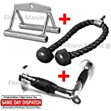 Tricep Press Down Rope   Triceps Pushdown V Bar   Rowing Double-D Machine Handle