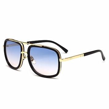 Aoligei Sonnenbrillen Männer Mode Sonnenbrillen Metall zwinge Kröte Gläser jAIm9NH