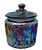Rhyne and Son Reproduction Vintage Style Glass Biscuit Jar (Black Carnival)
