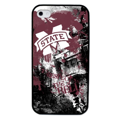 NCAA Mississippi State Bulldogs Paulson Designs Spirit Case for iPhone 4/4s, Black, Medium - Mississippi State Iphone 4 Case