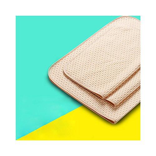 Huluwa Changing Pad Baby Changing Mat Cotton Breathable Waterproof Urine Mat Washable Mattress Pad for Newborn, Brown, 19.7