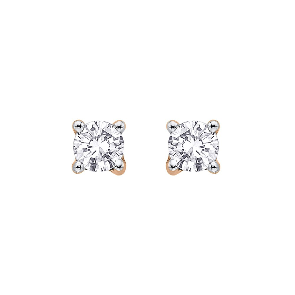 a96cf6fd4 KATARINA DiamondStud Earring in Gold or Sterling Silver (1/3 cttw-G-H |  I2-I3)