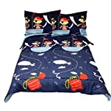 Yo Ho Pirates Full Comforter Pillow Shams Set