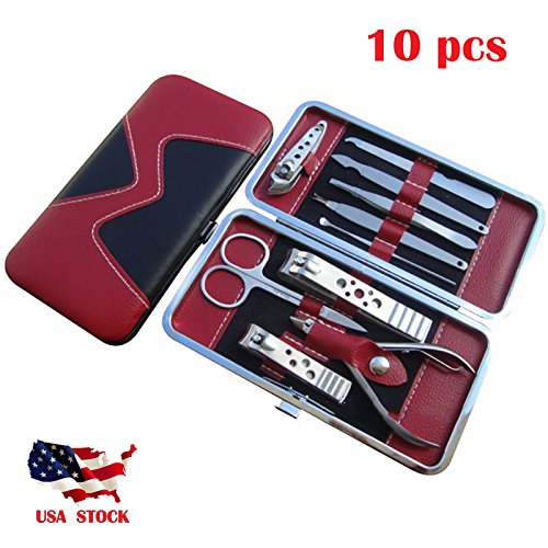 fessional Pedicure Manicure Set Nail Clippers Cleaner Cuticle Grooming Kit Case Hot (Woven Blade Set)
