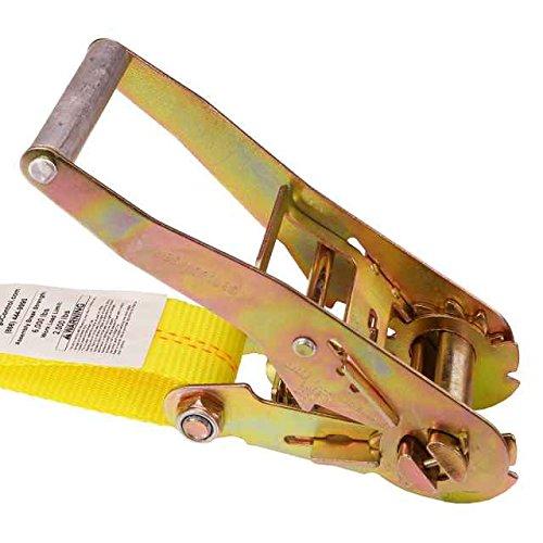 2'' x 30' Ratchet Strap w/ Flat Snap Hooks (10 Pack)