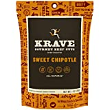 KRAVE Jerky Gourmet Beef Cuts, Sweet Chipotle, 1 Ounce (Pack of 12)
