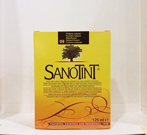 Sanotint - 4% PPD, sin amoníaco tinte de cabello marrón natural 03