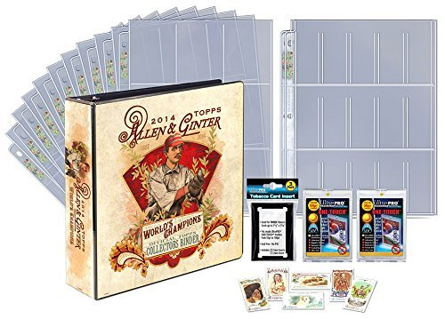 Baseball Inserts Topps - Topps Allen and Ginter Series Limited Edition 2014 Trading Card Gift Set Including an Official Topps Collectors Binder Made by Ultra Pro, Pages, Magnetic Holders and Exclusive Tobacco Cards