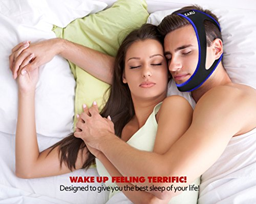Premium Anti Snore Chin Strap by ZARU (New Version 2018 ) - Advanced Snoring Solution Scientifically Designed to Stop Snoring Naturally and Give You The Best Sleep of Your Life !!