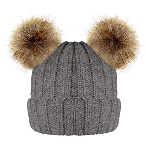 mioim 親子ニット帽子 ニットキャップ ケーブルニット ポンポン付き軽量 伸縮性ある フりーサイズ シンプル スキー スノボ アウトドア メンズ レディース 全10色