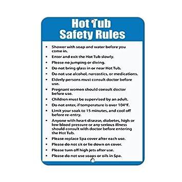 Amazon.com: Jacuzzi normas de seguridad seguir & Obey reglas ...