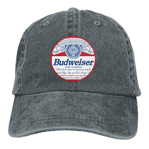 Budweiser Classic Baseball Caps Adjustable Hat Denim Fabric Deep Heather ()