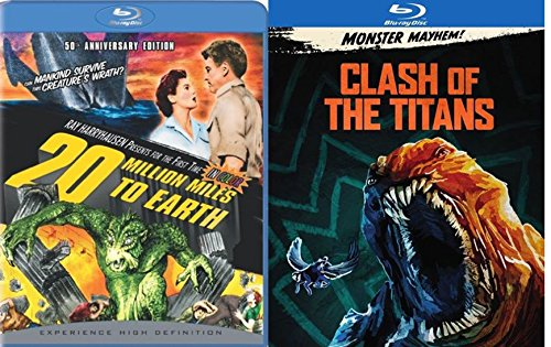 Fantasy Adventure Set - 20 Million Miles to Earth (50th Anniversary Edition) & Clash of the Titans (2010) in Exclusive O-Ring 2-Movie Blu-ray Bundle
