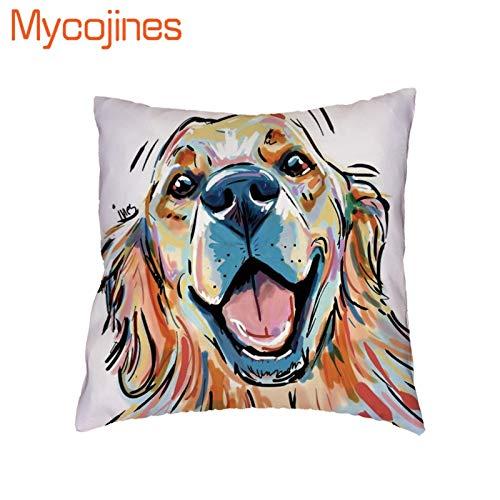 Amazon.com: Pug Shepherd Dog Pillowcase Oil Painting Parity ...