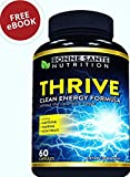 THRIVE – Natural Clean Energy- High Caffeine Pills with Taurine- B Vitamins and More. Supports Endurance- Energy- and Focus, made for Men and Women. Non-GMO Natural Energy Supplement 60 Capsules Review