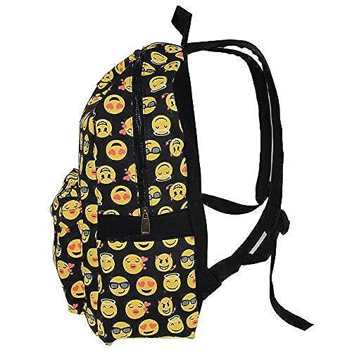 Greeniris sac à dos femme toile voyage vintage femmes emoji sac à dos pour fille collège