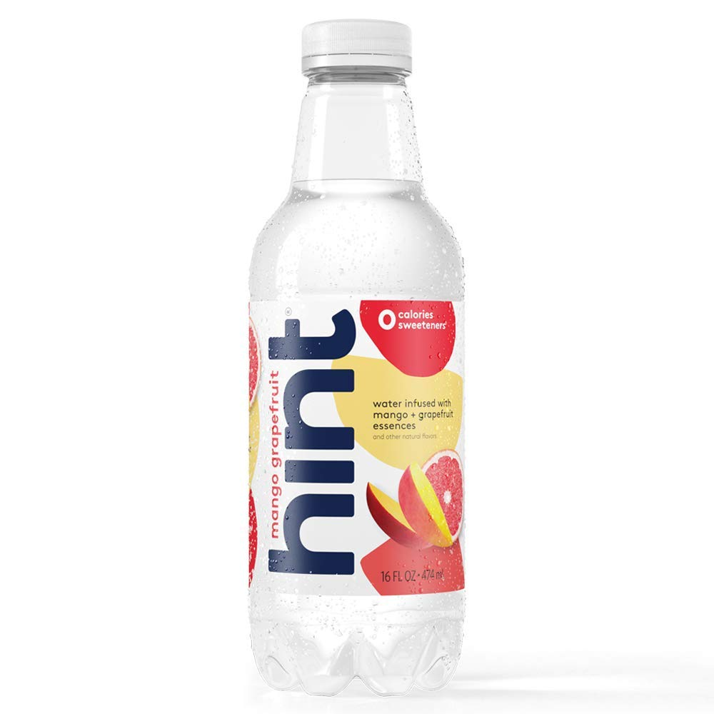 Hint Water Mango-Grapefruit, (Pack of 12) 16 Ounce Bottles, Pure Water Infused with Mango and Grapefruit, Zero Sugar, Zero Calories, Zero Sweeteners, Zero Preservatives, Zero Artificial Flavors